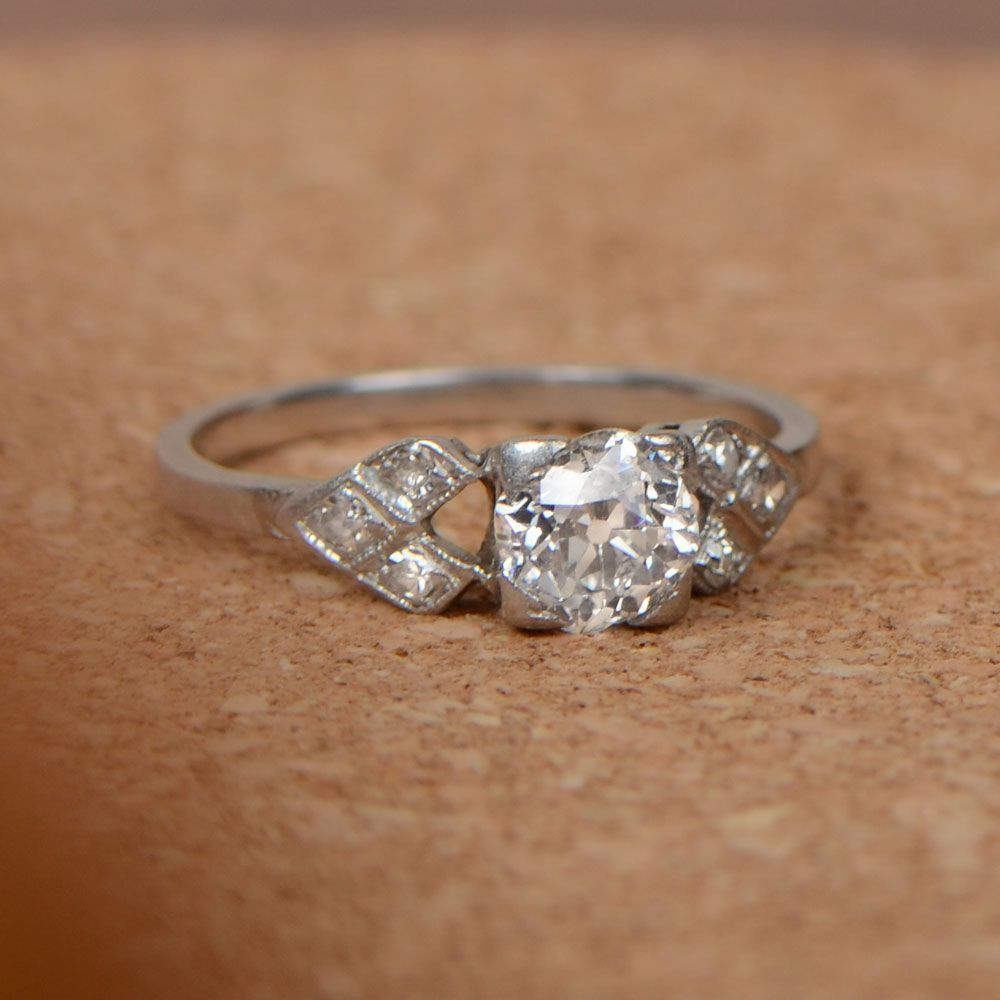 A Beautiful Antique Engagement Ring Circa 1910 Estate Diamond
