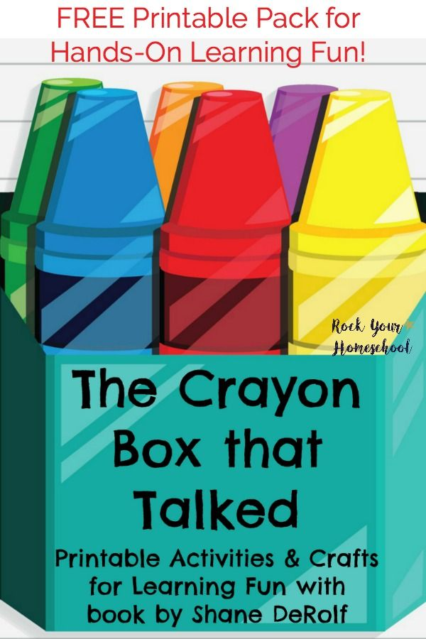 Free Printable Pack For The Crayon Box That Talked Crayon Box