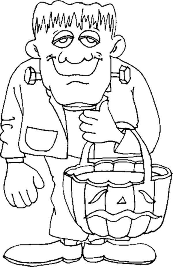 frankenstein coloring pages - Google Search | Coloring: Halloween ...