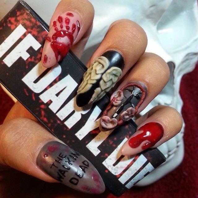 Fantastic 3d Halloween Nail Art By Aracely Ruiz