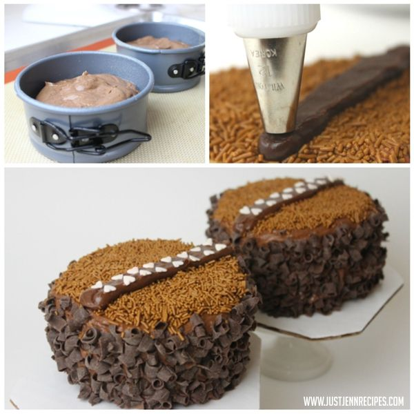 Chocolate Chewbacca Www Dunmorecandykitchen Com: Two Later Round Cake With Chocolate Sprinkles And A