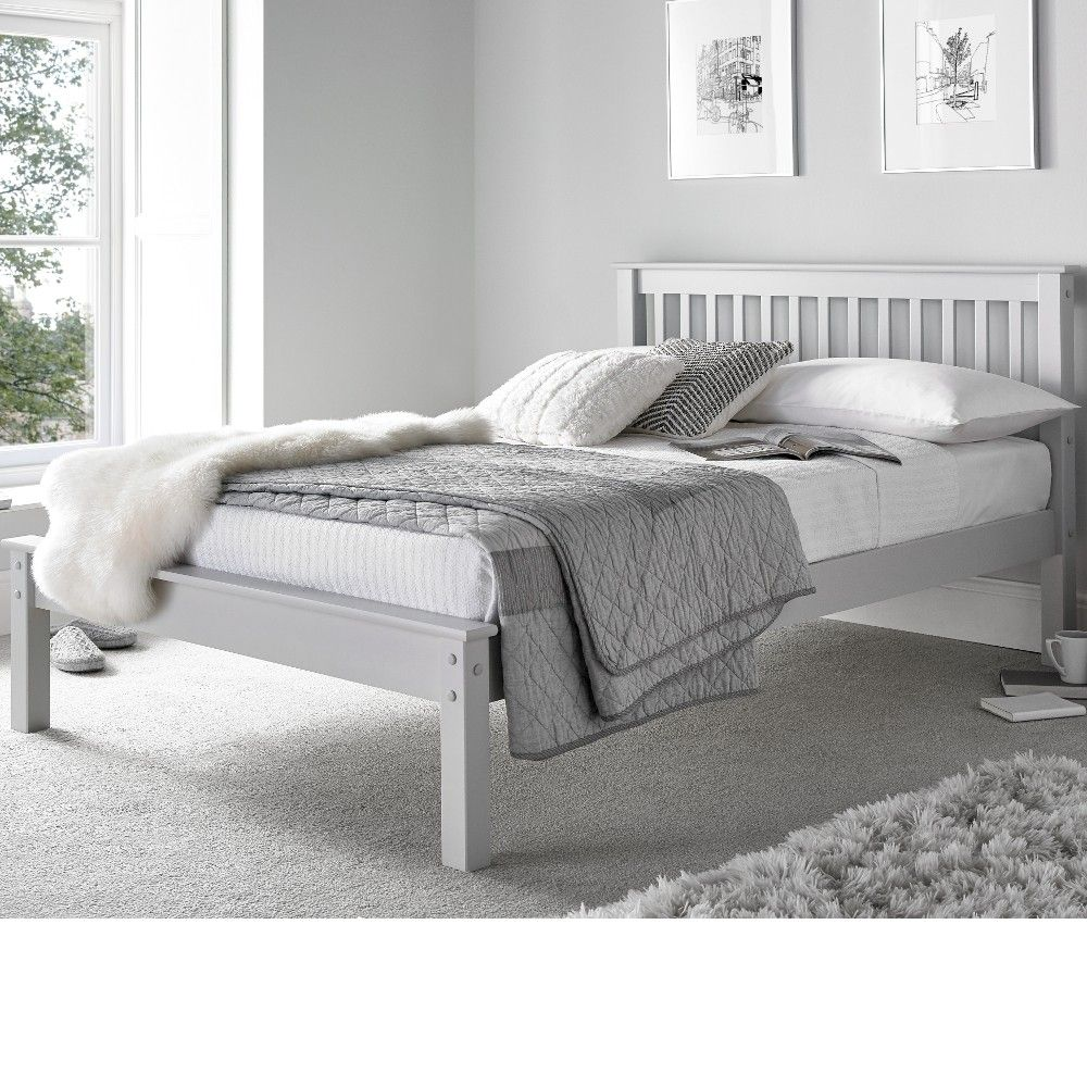 Grace Grey Wooden Low Foot End Bed Frame 4ft6 Double Grey Wooden Bed Frame Wooden Bedroom Furniture Bed Furniture