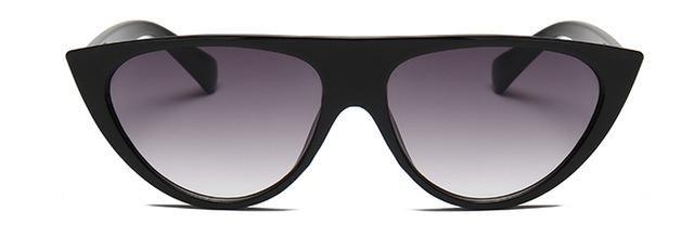 d4d20998072 Peekaboo Triangle Cat Eye  Sunglasses Flat Top Fashion 2019 Sun Glasses For  Women Cat Eye