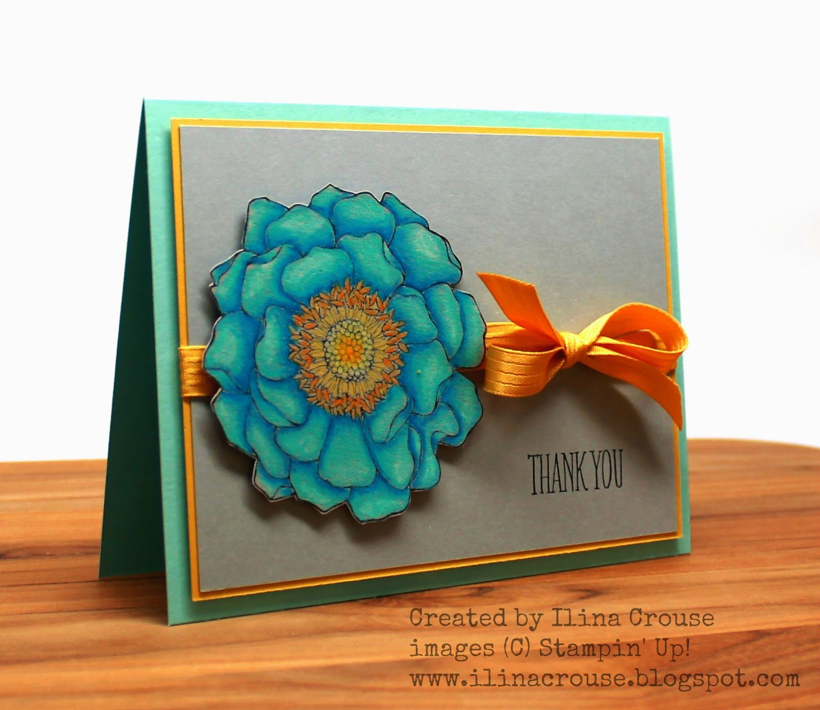 THURSDAY, MAY 15, 2014 Creativity Within : Blended Bloomed, Something to Say, Caran D'ache Luminance Pencils, Hello Honey card stock and ribbon