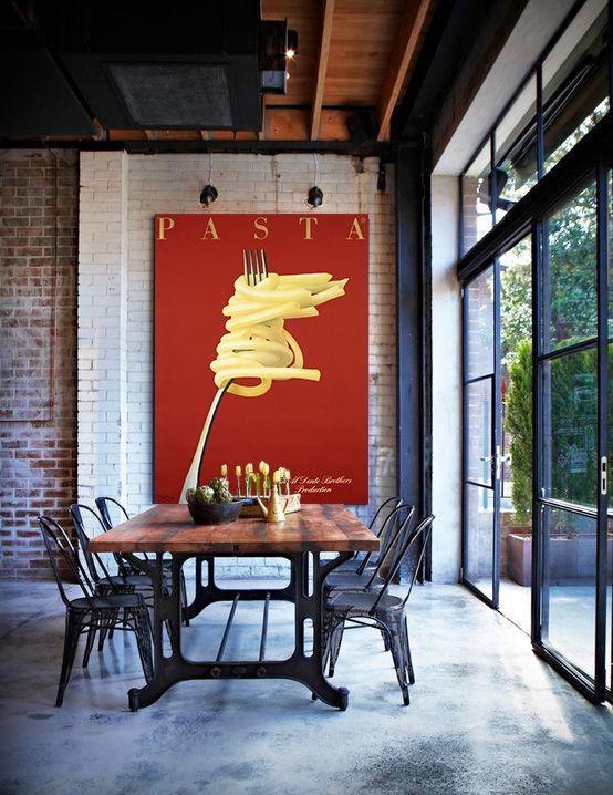 PASTA - kitchen dinning room - Affiches Marci