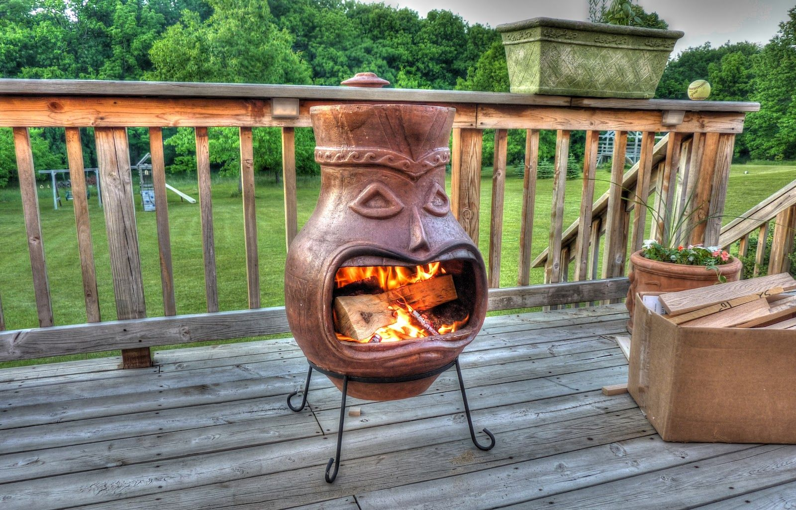 Exterior Design Unique Chiminea Fireplace With Home In In 2020 Outdoor Decor Outdoor Fire Pit Chiminea Fire Pit
