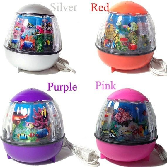 Details About Fish Aquarium Motion Lamp Night Light For