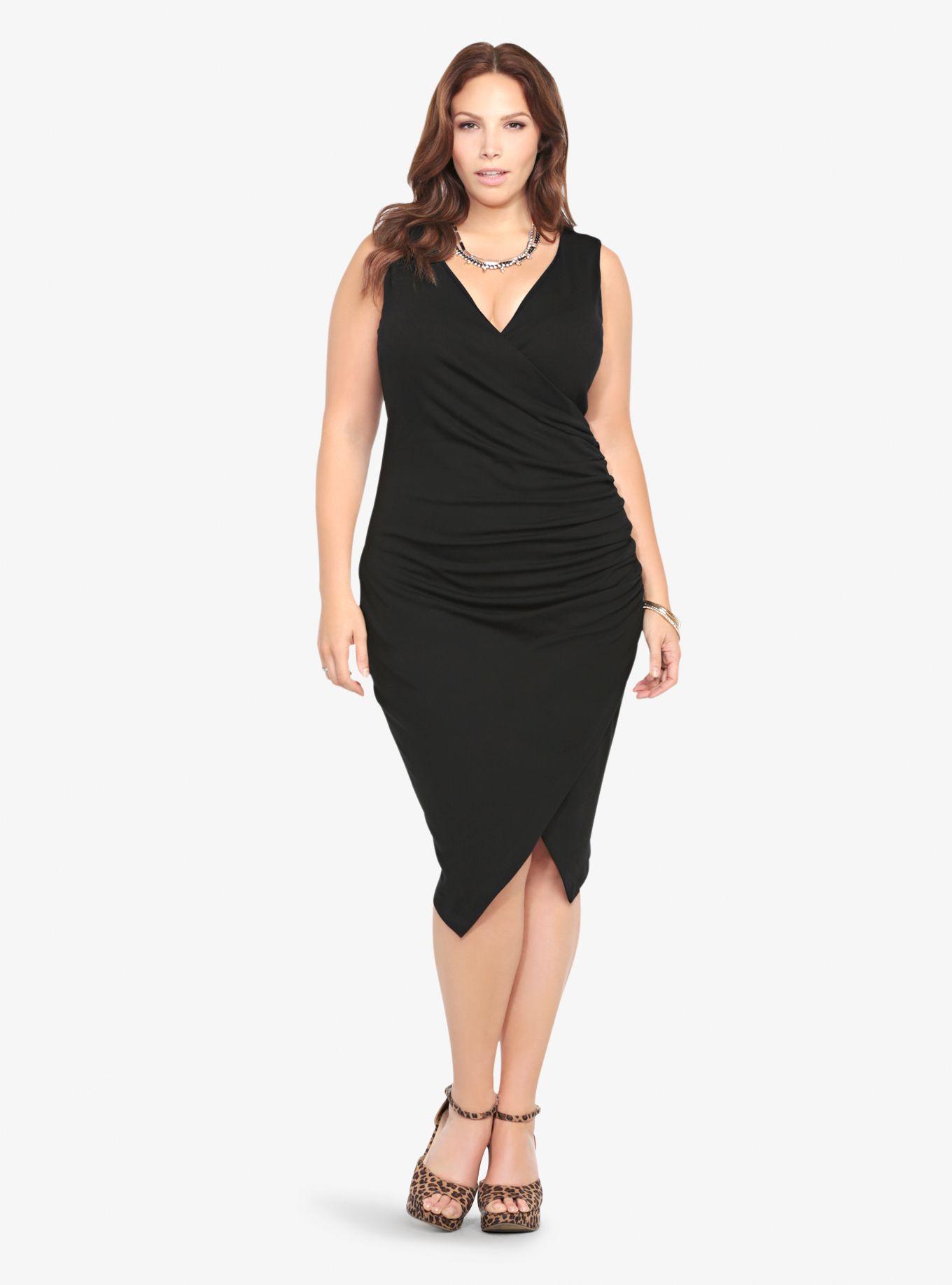 Dress size 24 torrid dress 24 torrid black and white draped v neck - Envelope Bodycon Dress Torrid