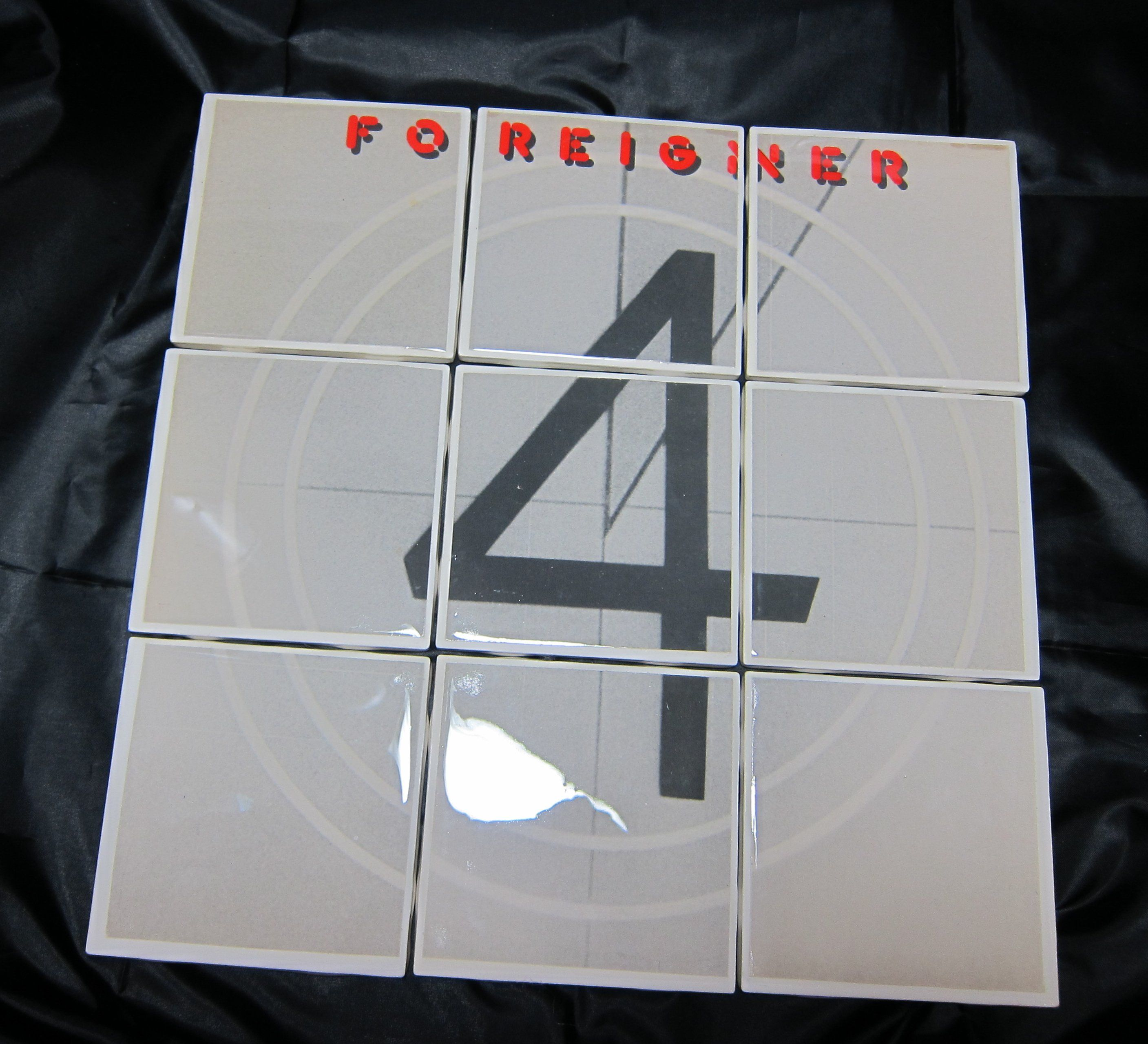 Foreigner Real Album Sleeve Coasters Tile Set Recycled Vinyl Record Album Sleeves Used Vinyl Records Vinyl Records
