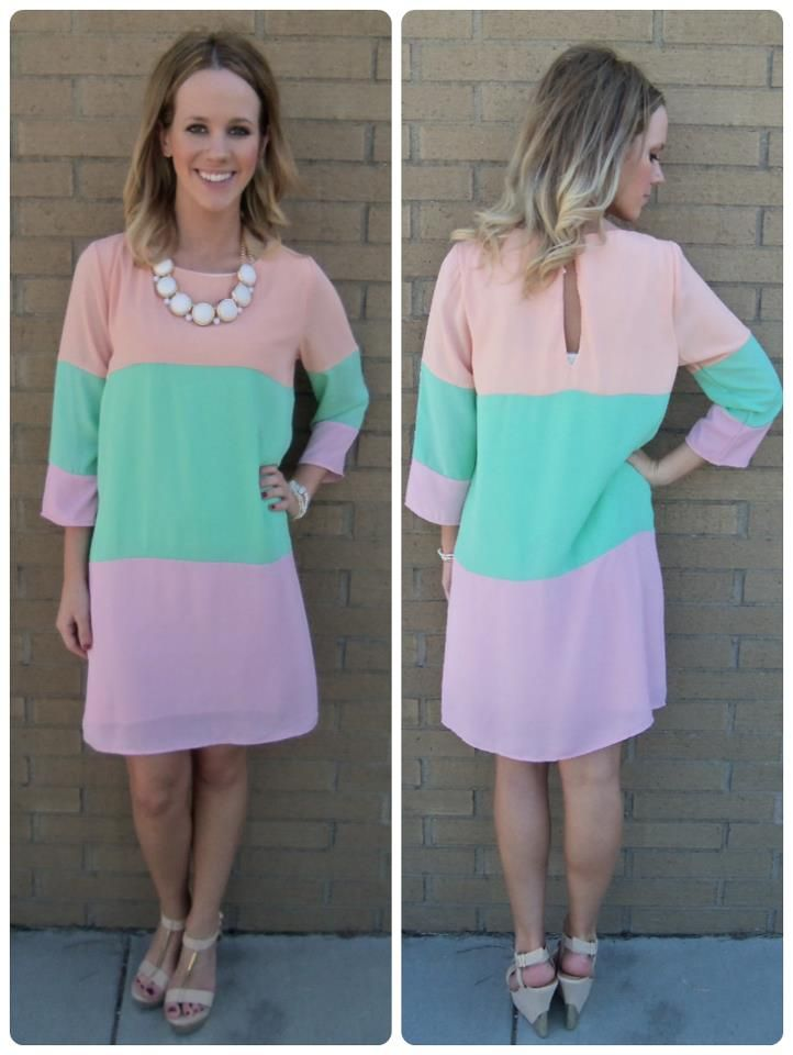 Pastel Color Block Dress 47 Beautiful Dresses Short Colorful Dresses Colorblock Dress