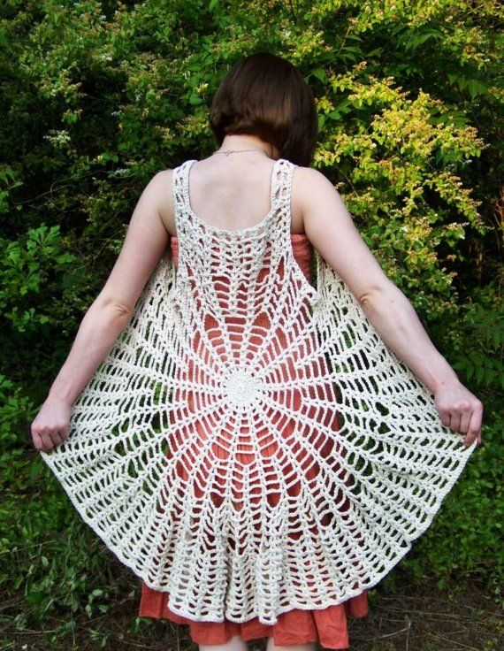 Mandala Spider Web Vest / Dress yarn and color your choice Gift ...