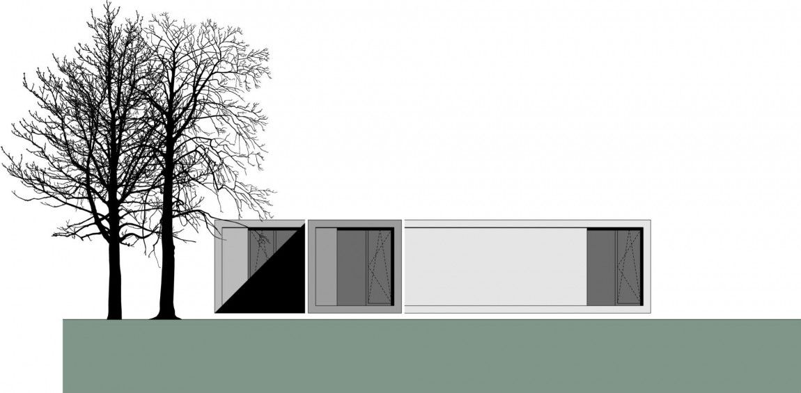 Compact L-Shaped Atypical Home Placed in a Rural Landscape in Germany