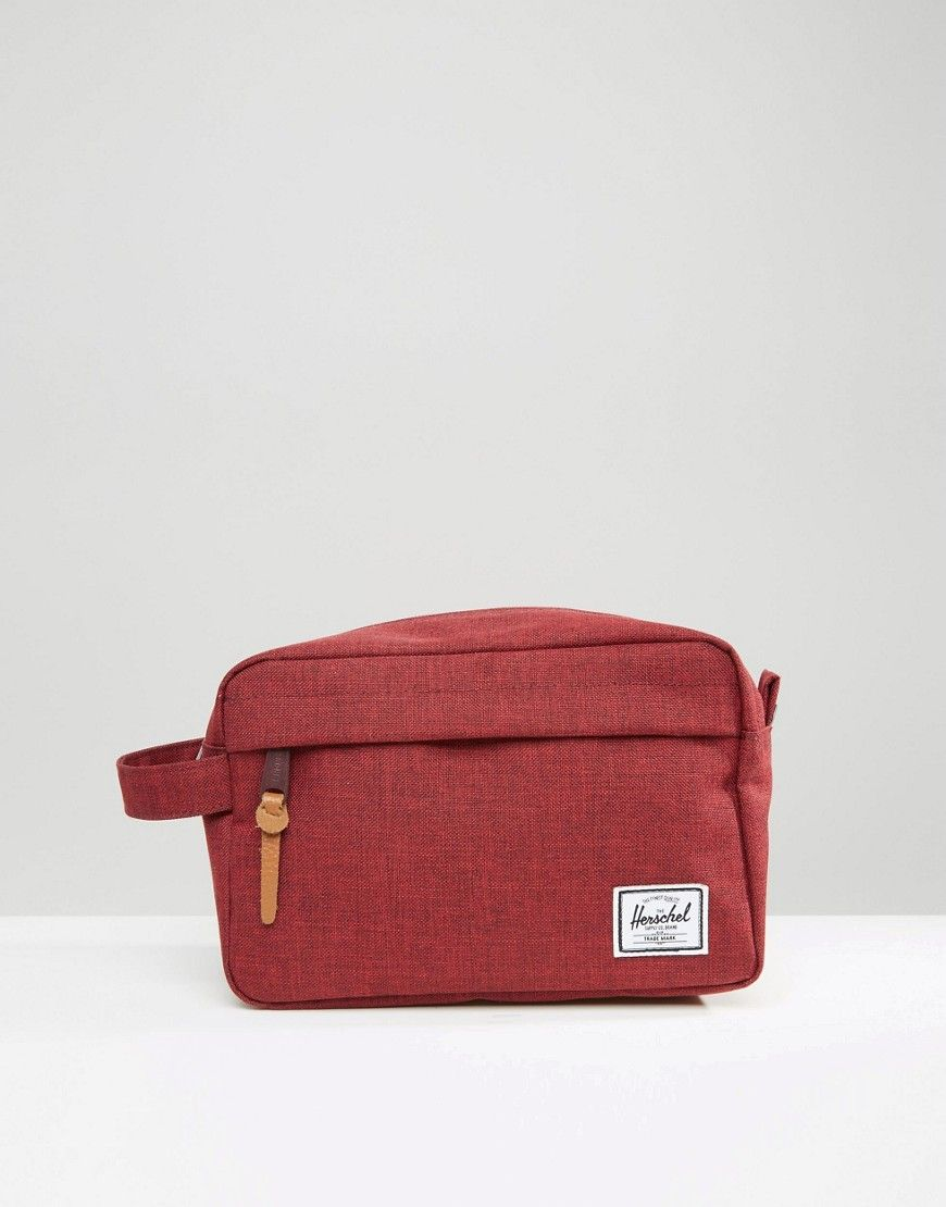 65aed3d70a32 Shop Herschel Supply Co Chapter Toiletry bag In Burgundy at ASOS.