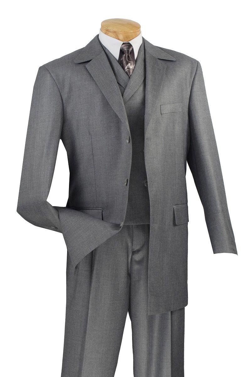 Mens Fashion Suits By Vinci Gray Textured Fabric 3 Piece 33rr 3 Mens Fashion Suits Best Suits For Men Mens Suit Stores