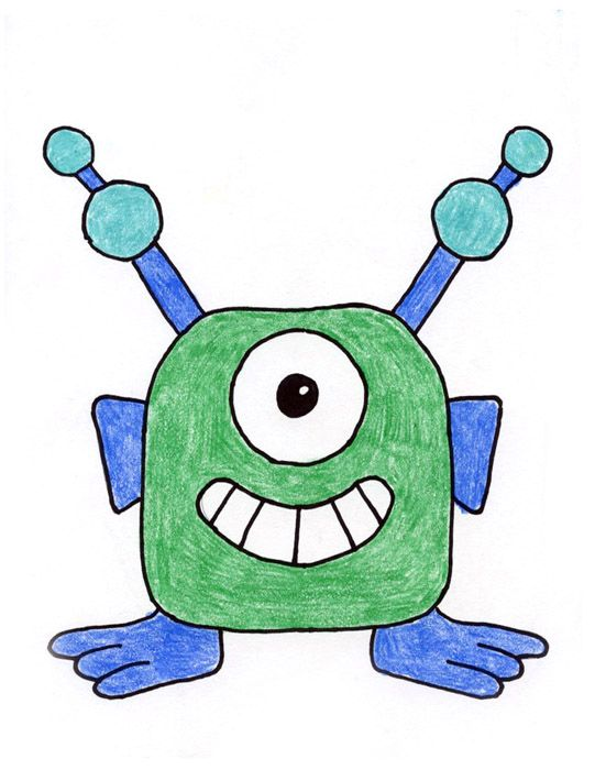 Drawing Aliens With Images Alien Drawings Kids Art Projects