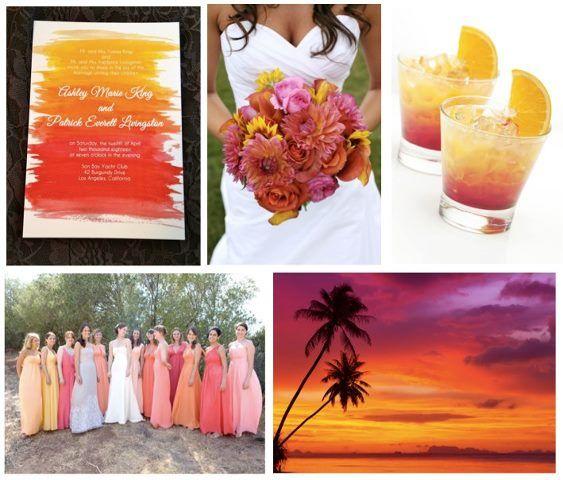 Ideas For A Sunset Wedding Theme