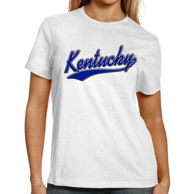Kentucky Wildcats Women's Basic Melody Clean T-Shirt - White