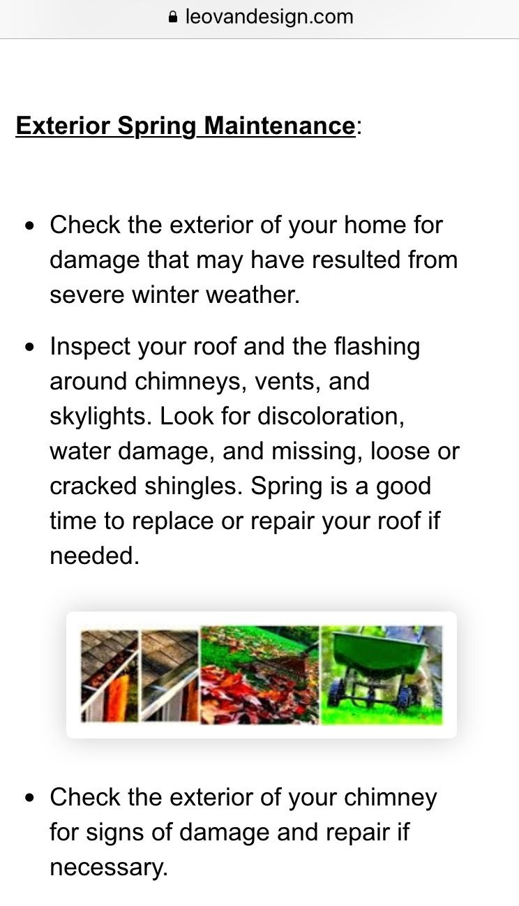 Exterior home maintenance tips. spring homeimprovement