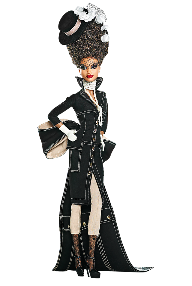 Pepper Barbie® Doll - Byron Lars makes the most gorgeous Black Barbies in the world. I want them ALL.