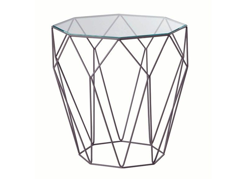 Featuring A Tempered Glass Top On A Sixmillimetre Thick Steel Wire Frame,  The Precious Side Table Can Also Be Had With Coloured Glass Tops A.