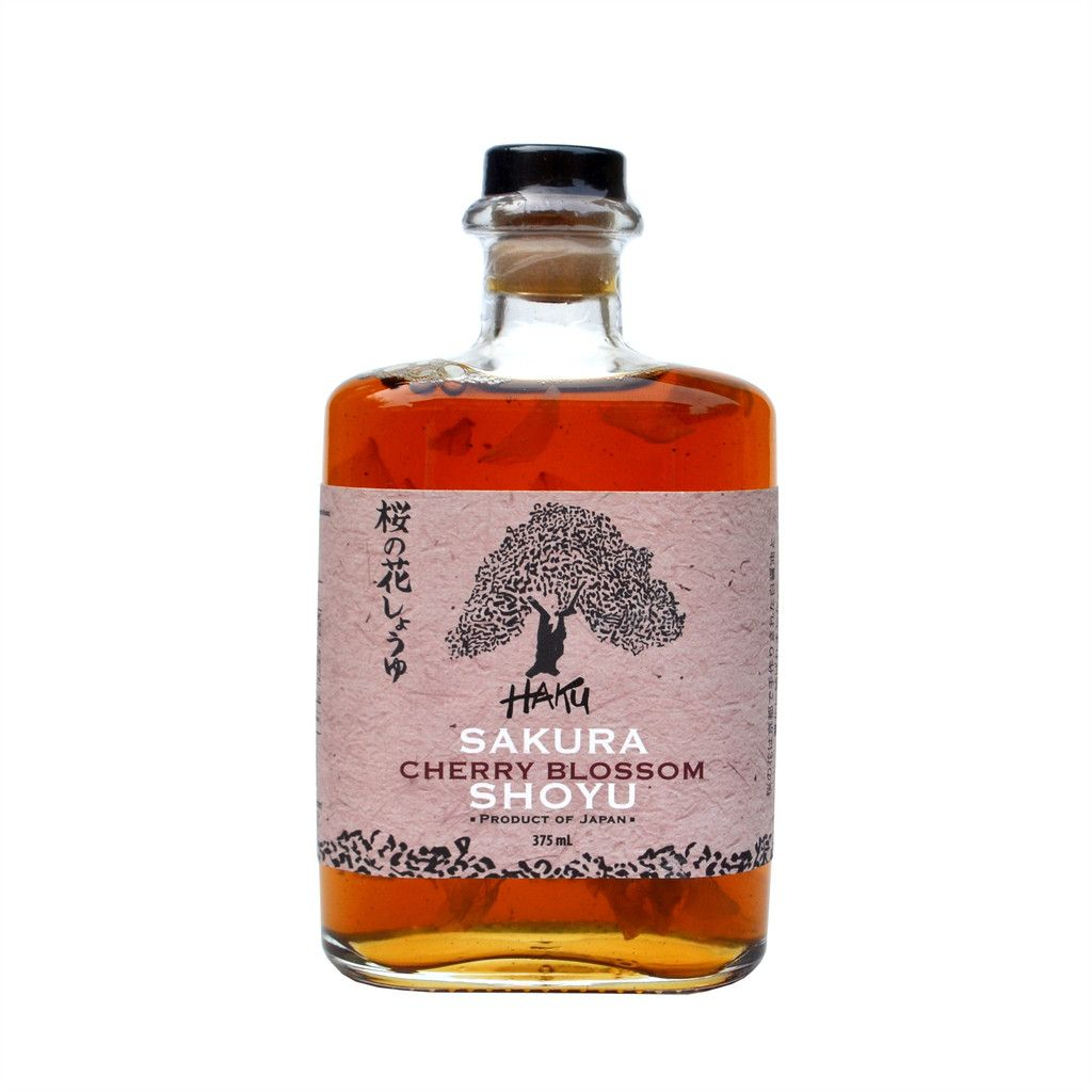 Haku Sakura Cherry Blossom Shoyu Sakura Cherry Blossom Glass Bottles With Corks Cherry Blossom