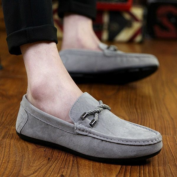 Mens Spring Breathable Suede Ankle Slip On Outdoor Boat Shoes