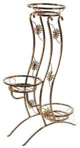 Kwietnik Metalowy Stojak Na Kwiaty Wieża 3 Kwietniki