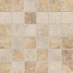 Daltile Rio Mesa Desert Sand 12 In X 12 In X 8 Mm Ceramic Mosaic Floor And