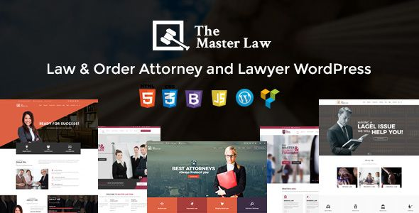 Master Law Attorneys WordPress Legal Lawyer Responsive Theme The ...