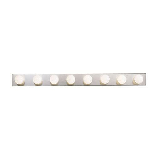 Photo of Kichler 628NI Eight-Light Bath Fixture in Brushed Nickel – Brushed, Transitional | Bellacor