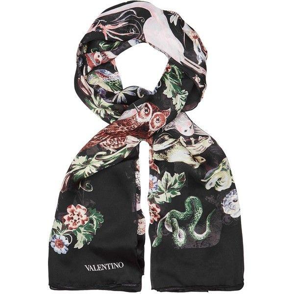 36f20bb042b6 Womens Silk Scarves Valentino Animal-print Silk Scarf (690 AUD) ❤ liked on