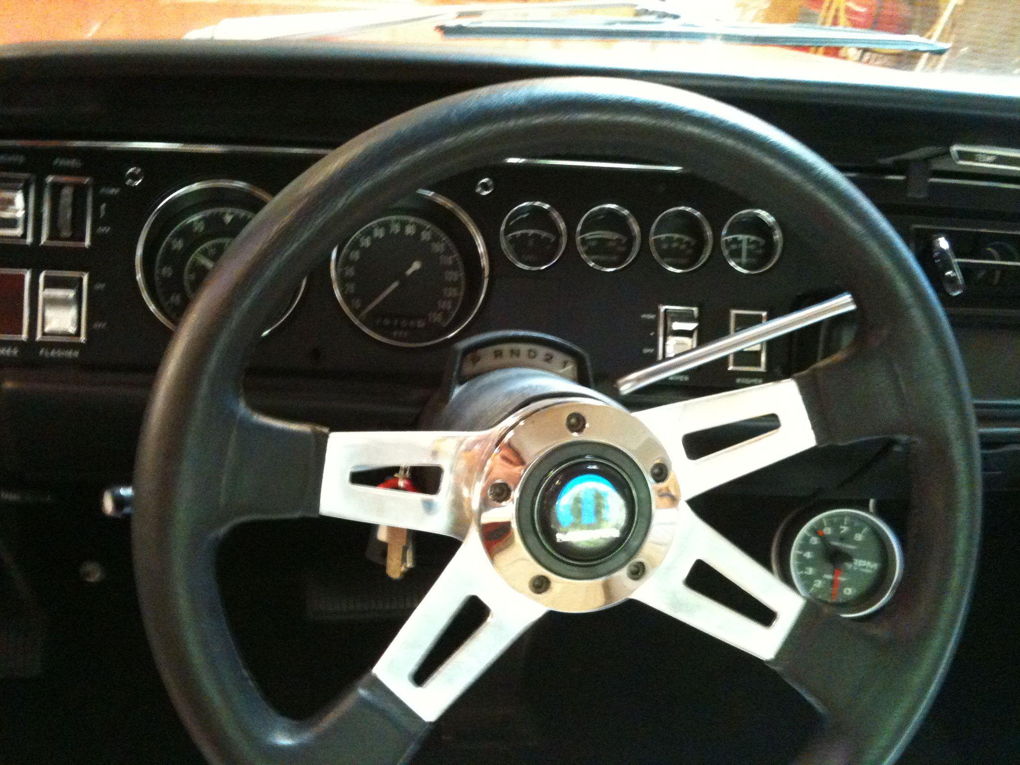 Refinished gauge cluster installed, mopar Grant steering