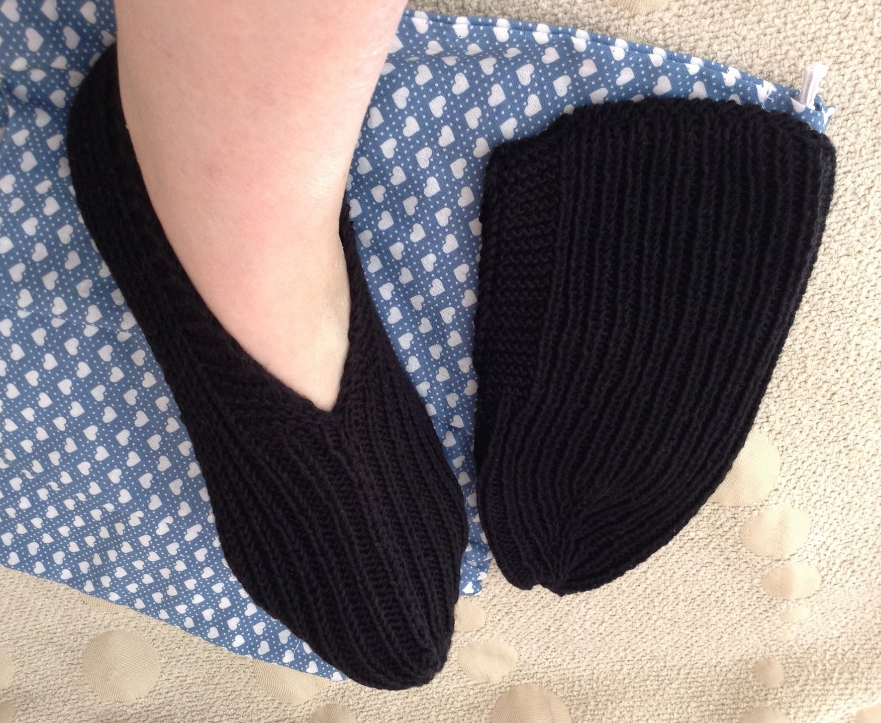 chaussons ballerines pour femmes ou jeunes filles tricot viscose et coton noir chaussettes. Black Bedroom Furniture Sets. Home Design Ideas