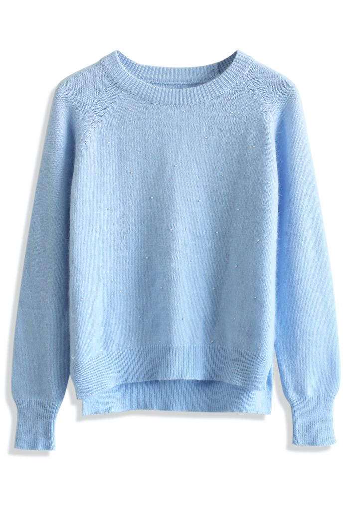 Blue Pearl Angora Sweater