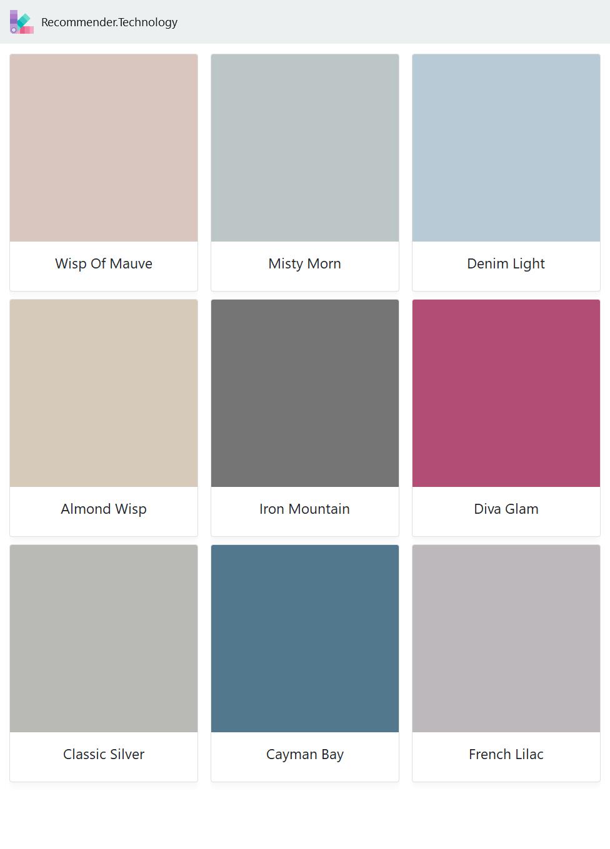 Wisp Of Mauve Almond Wisp Classic Silver Misty Morn Iron Mountain Cayman Bay Denim Light Diva Glam Fren Behr Paint Colors Paint Color Palettes Painting [ 1360 x 976 Pixel ]