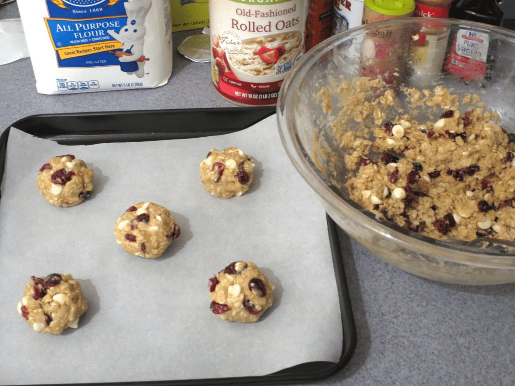 Simple Oatmeal Cookies With Cranberries And White