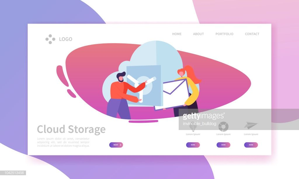 Cloud Storage Technology Landing Page Template Data Center Hosting
