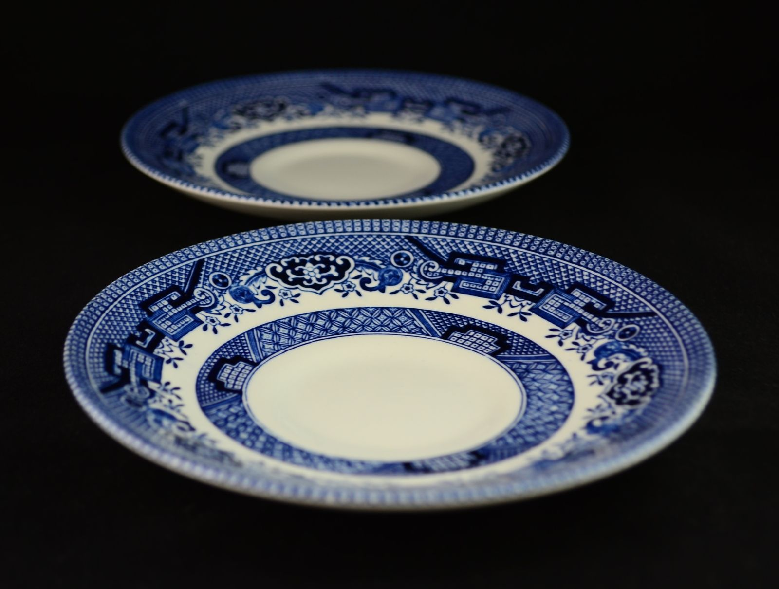 Pair of Churchill Blue Willow China Saucer Plates England - Displayed only #deals & Pair of Churchill Blue Willow China Saucers England - Displayed only ...