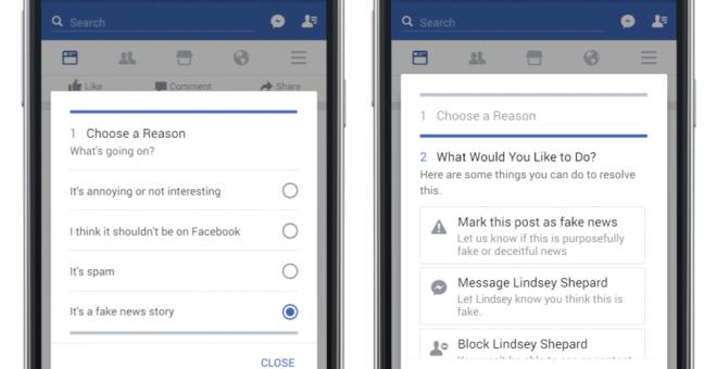Facebook pone en marcha tímidos mecanismos para señalar noticias falsas en su red