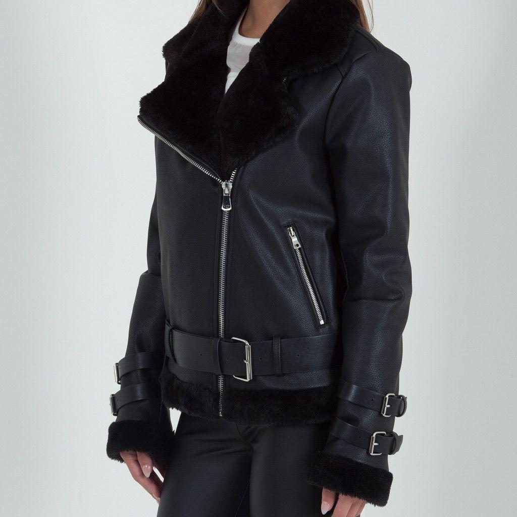 Women's Shearling Biker Jacket | Women's outwear | Pinterest ...