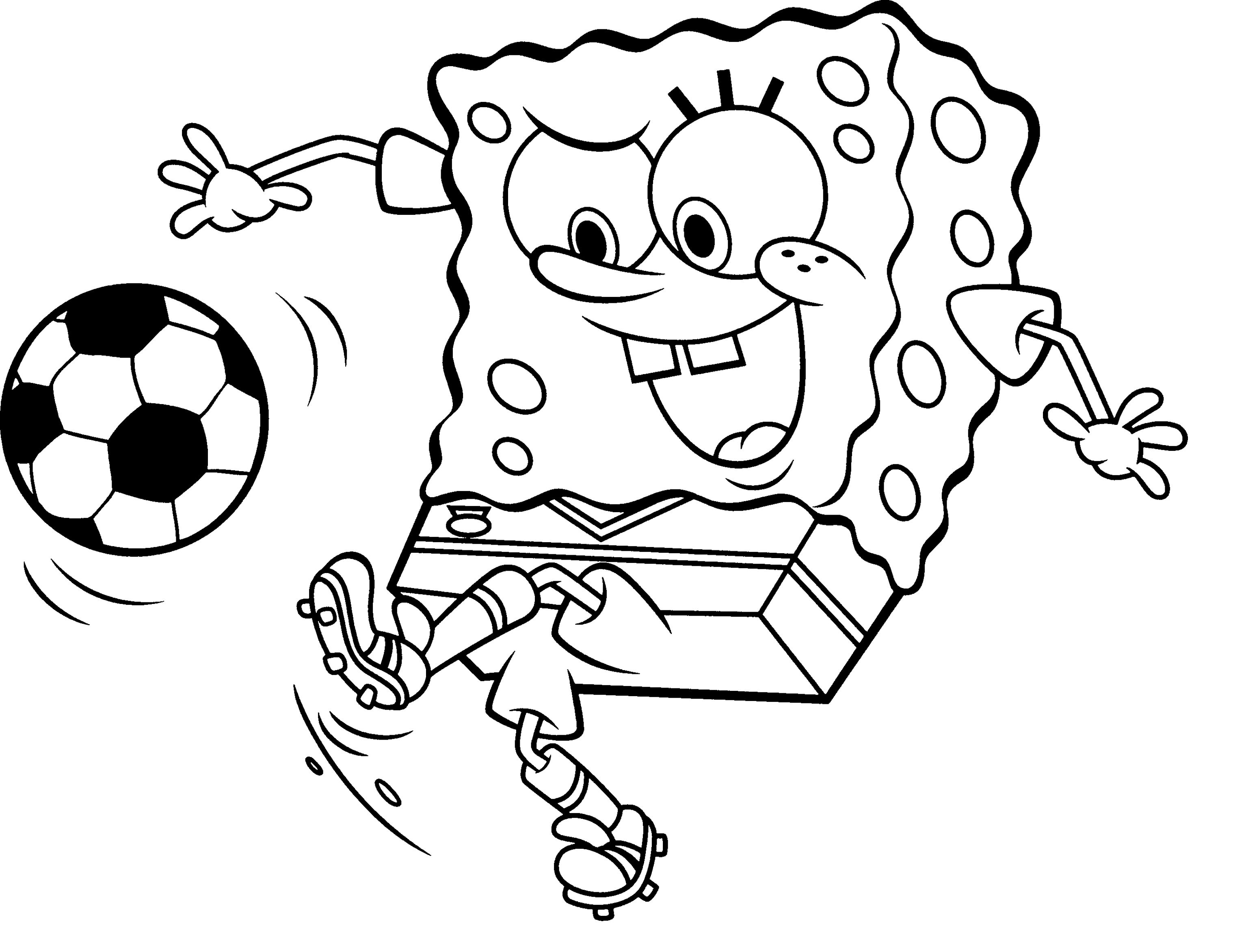 Pages Printable Spongebob Squarepants Coloring For Kids At Free