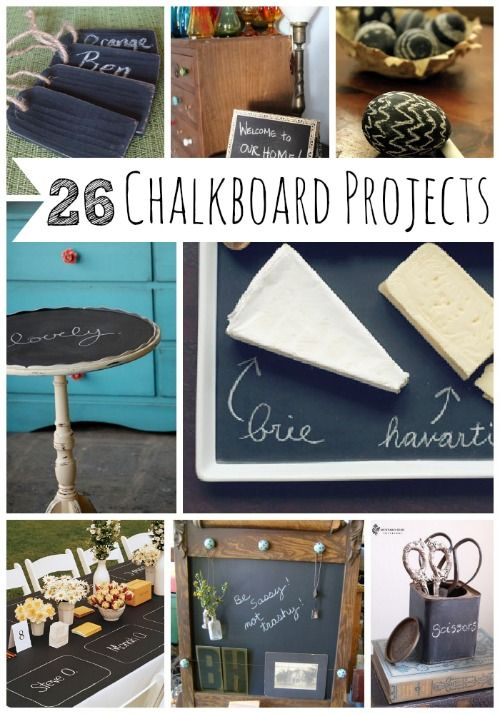 26 Charming Chalkboard Project Ideas Chalkboard Projects Chalkboard Crafts Diy Projects To Try