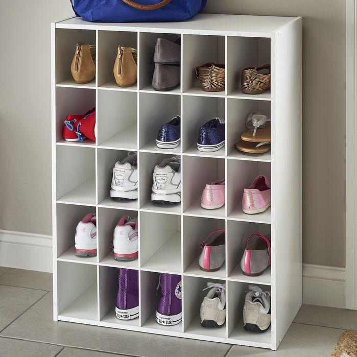 White Laminate 25 Storage Cubes Home Closet Organization Storage Shelves Shoes & ClosetMaid 25 Shoe Cube Organizer | house stuff | Pinterest ...