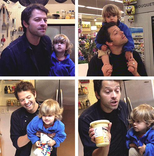 Misha and his son, West! Bottom Left and Top Right are ...