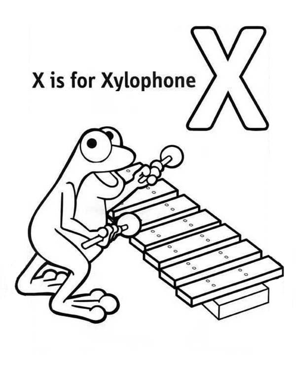 Learn Letter X For Xylophone Coloring Page Bulk Color Coloring Pages Learning Letters Lettering