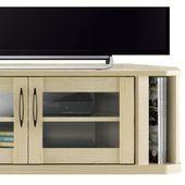 TV stand corner low board storage wooden door AV rack 42 typ …