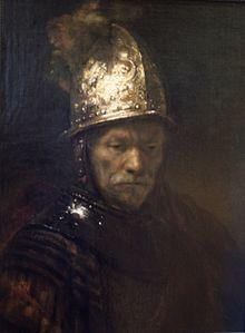 Rembrandt van Rijn:  Man in a Golden helmet,