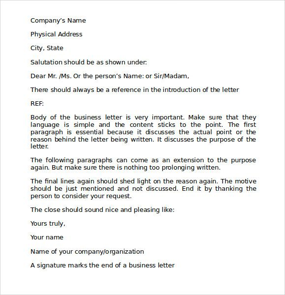 Proper Business Letter Format Download Free Documents Pdf Block