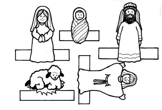 Bricolage de no l mod les pour r aliser une cr che en papier gabonak christmas crafts - Petit quick coloriage ...
