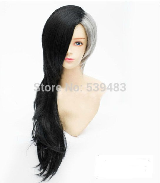Tokyo Ghoul Mr Bai Uta Cosplay Wig Black Grey Mixed Straight Long Hair Ponytail Anime Wigs In Syntheti Long Hair Ponytail Long Hair Styles Long Straight Hair